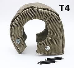 HM&FC T4 Titanium Lava Cover Turbo Shield Turbo Blanket Stainless Steel Net Inside with Fastener Springs