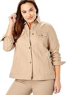 c06875cb160 Jessica London Women s Plus Size Classic Cotton Denim Jacket
