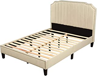 The Collection Luxor Ivory Brass Bed Frame Double 4ft6 RRP £299 Easy To Assemble