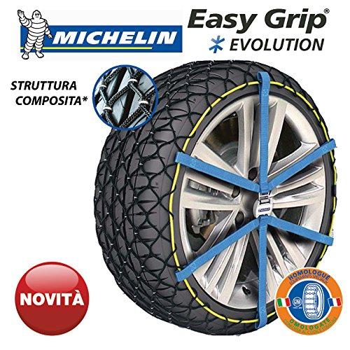 Cadenas de nieve de tipo funda para neumáticos 215/60 R16, de fácil enganche, Easy Grip, homologadas, EVO 9