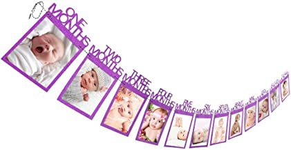 Deesee(TM)💗13Pcs Creative Happy Birthday Paper Photo Frame Wall Hanging Picture Album (Purple)