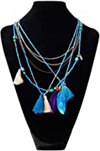 RWATS necklace Multicolor Feather Small Beads Jewelry Fashion Metal Chain Resin Pendant Necklaces Women