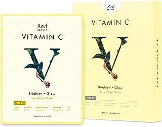 Rael Bamboo Face Sheet Mask - (Vitamin C, 5 Sheets) Vita Bright Real Natural Facial Mask With Vitamin C For Brightening by...