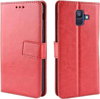 Étui à rabat en cuir pour Samsung Galaxy J6 SM-J600F SM-J600G SM ...