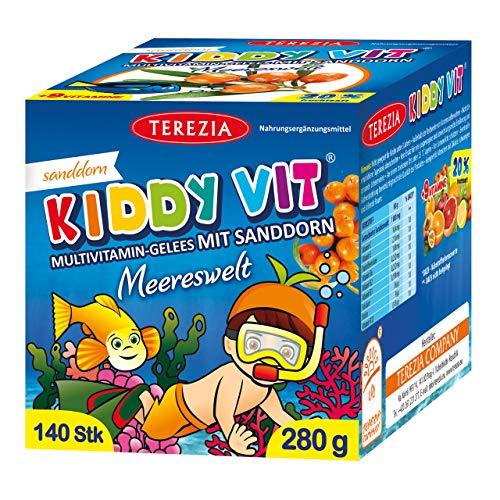 TEREZIA Multivitamine Meereswelt Gelee-Drops/Gummibärchen für Kinder, enthaltet Sanddorn und 9 verschiedene Vitamine. Ohne jegliche chemische Zusatzstoffe, Konservierungsmittel und Farbstoffe …
