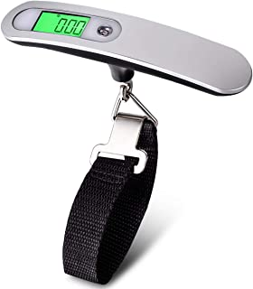 Goplus Digital Luggage Scale, 110 Lbs High Precision Hanging Scale, Backlight LCD Display Travel Luggage Scale