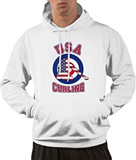 DPC9D373 2018 USA Curling Team Adult Sweatshirt Pullover Hoodies for Men
