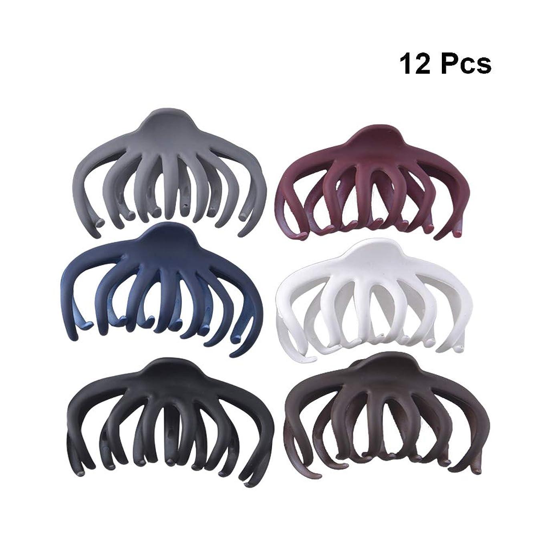 手綱ためらうピカソBeaupretty 女性の女の子ミディアムロングヘアのための12本の髪の爪クリップグリップバレット