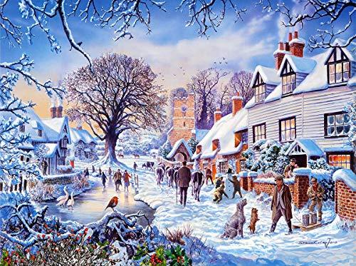 Puzzle 1000 piezas Cuadro de cartel navideño serie 78 cuadro decorativo puzzle 1000 piezas clementoni Juegos familiares para adultos divertidos para niños Rompecabezas de jugu50x75cm(20x30inch)