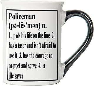 Policeman Mug, Policeman Coffee Cup, Ceramic Policeman Mug, Custom Policeman Gifts By Tumbleweed