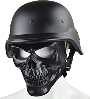 Jadedragon Tactical M88 ABS Helmet and Cover with Foldable Double Straps Half Face Mesh Mask & Goggle for 360¡ãProtect