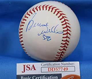 BERNIE WILLIAMS JSA Coa Autograph Major League OML Hand Signed BasebaLL