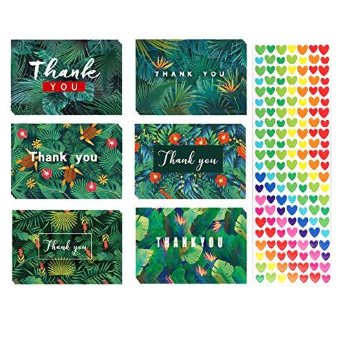 Paquete de 48 tarjetas de agradecimiento en blanco con sobres y 6...