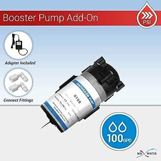 MAX WATER USA Inc. Reverse Osmosis RO 100 GPD Booster Pump + Transformer