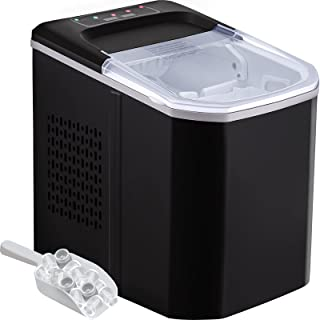 VEVOR Machine à Glaçons Portable 12kg par 24H Mini Commercial Ice Maker avec LCD (Noir)
