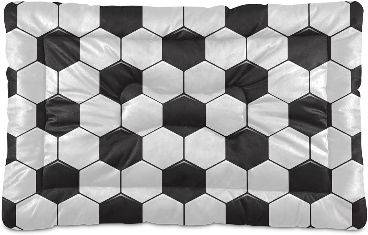 Soft Black White Soccer Balls Pet Bed Ranking TOP1 Large for S Max 60% OFF Cat Medium Dog