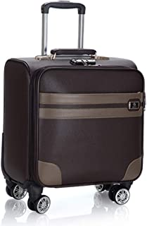 Trolley Case 18 inch PVC Waterproof Travel Carry On Cabin Hand Luggage Suitcase with 4 Wheels, Laptop Compartment Trolley Bag, Approved for Ryanair, Easyjet, British Airways, Virgin Atlantic,Flybe and