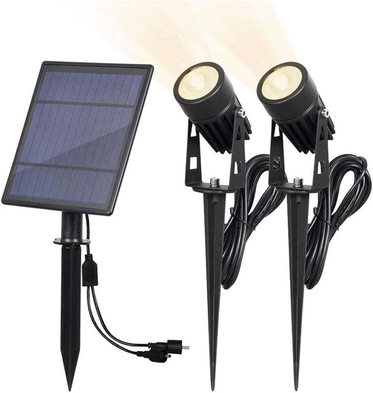 LED-Solarscheinwerfer, 2-Pack-Niederspannungsgartenlichter, Sonnensicherheits-Scheinwerferlicht im Freien, IP65 wasserdichtes solarbetriebenes Landschaftslicht Auto EIN AUS für Hinterhof-Rasen