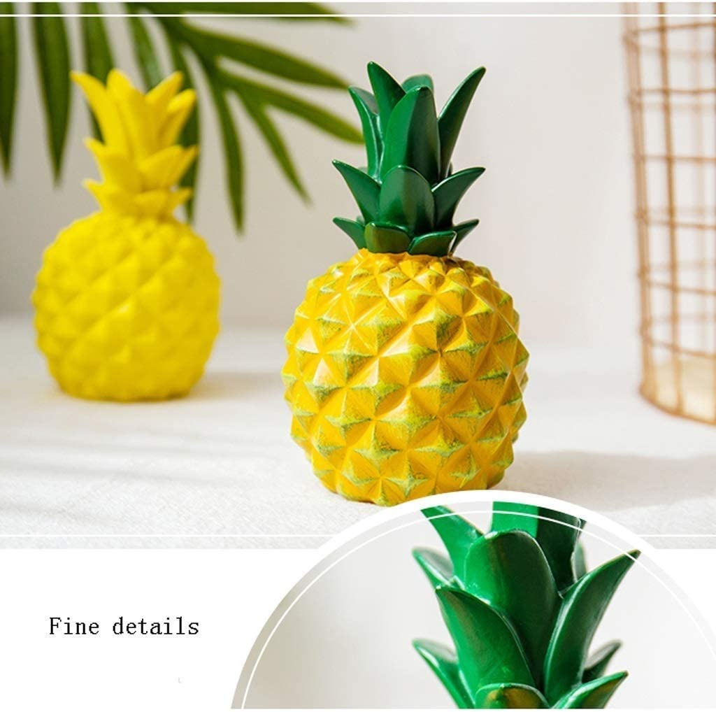 Ananas Money Bank Pot Creative Pineapple Sculpture Meubels artikelen Decoratie Multi-Function Spaarvarken for Home Decoration (Kleur: B) LLAN (Color : B) C