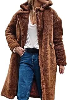 Howely Women Casual Fleece Lined Winter Lapel Warm Outwear Jacket