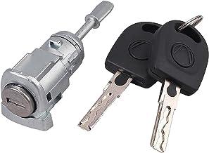 Justech Bloqueo de la Puerta del Cilindro Cerradura de Llave del Vehículo Cerradura de Seguridad Núcleo Accesorios Reemplazo de la Llave (Izquierda) Compatible con VW Golf 4 IV Bora Fabia 604837167