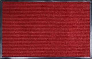 fani Heavy Duty Large Outdoor Indoor Entrance Doormat Red Waterproof Low Profile Entrance Rug Front Door Mat Patio Anti-Skid Rubber Back (Red,23