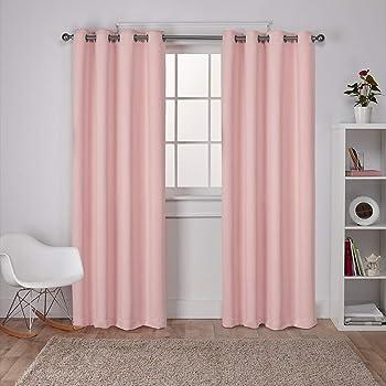 Soho cortinas color negro apagón aislamiento térmico superior Ojal Cortina Paneles juego de 2
