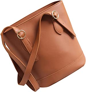 Baosity Bucket Tote Shoulder Bag Women Leather Ladies Crossbody Bags Handbags Gifts