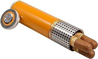 Cigar Humidor Luftfuktare, med Hygrometer och Luftfuktare Aluminiumlegering Cigarr Case Jar Humidors