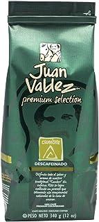 Juan Valdez Premium Cumbre Descafeinado Café Molido, 340g