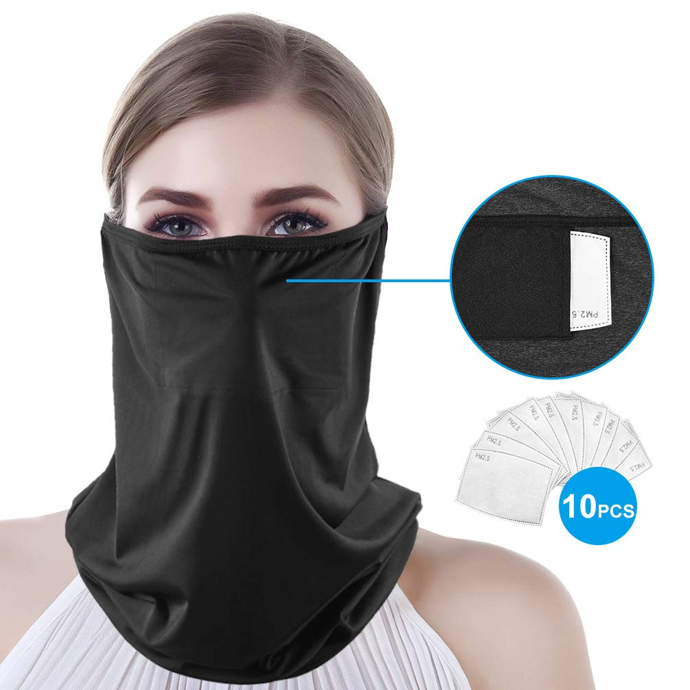Multifunctional Cooling Face Shield Covering Bandana Elastic Motorcycle Headwear//Neckwear Magic Stretchy Neck Tube for Dust Wind Sun Protection Neck Gaiter Warmer Thin Scarf for Men /& Women