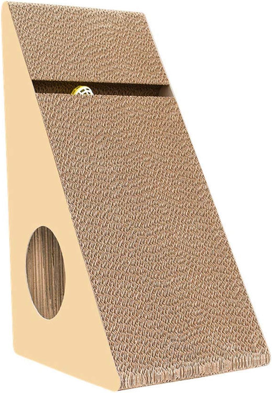 Corrugated Paper Cat scratch Board, Triangle With Bells Ramp Claws Cat Toy Corrugated Paper Cat Scratch Board, Cat Climbing Frame Pet Cat Supplies