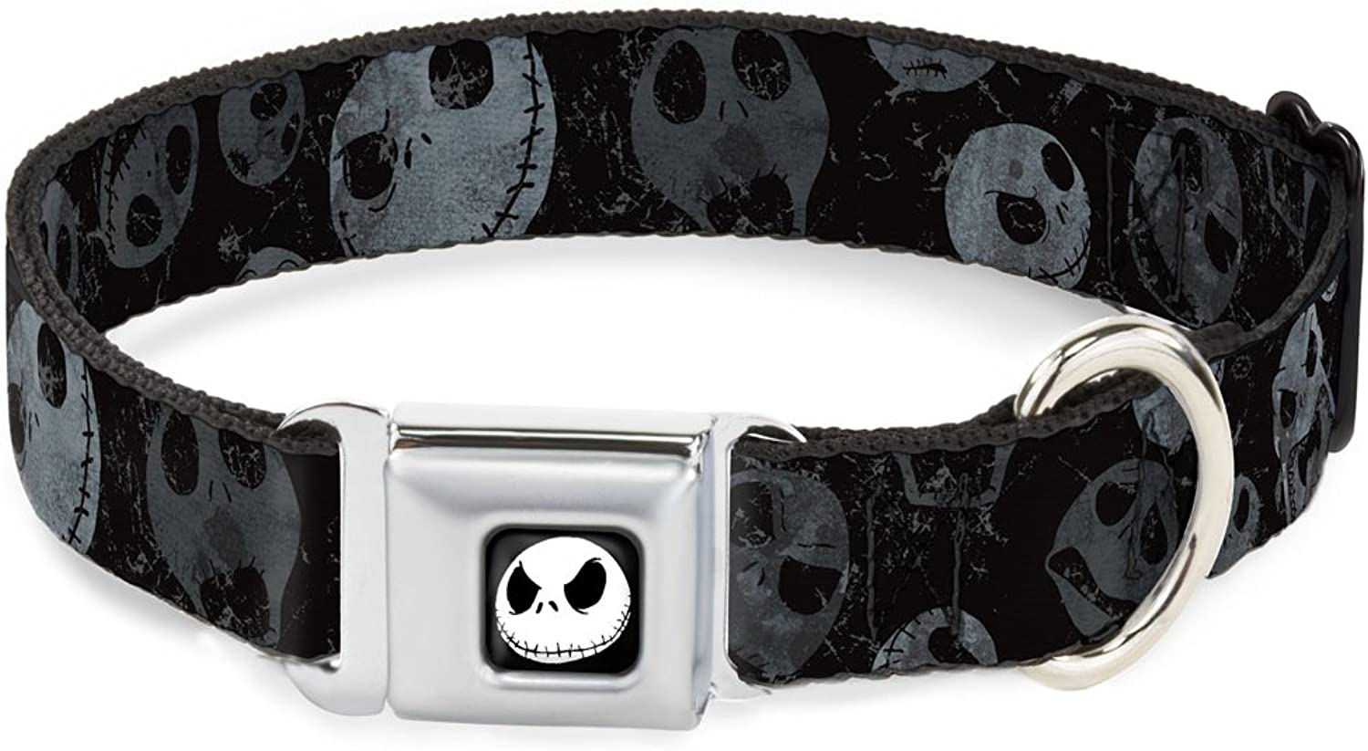 BuckleDown DCWDY032WS Dog Collar Seatbelt Buckle, Nbc Jack Expressions Scattered Weathered, 1.5  by 1318