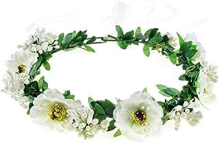 June Bloomy Rose Floral Crown Wreath Girls Flower...