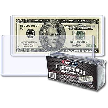 25 Plastic Regular Size Currency Holders SEMI RIGID