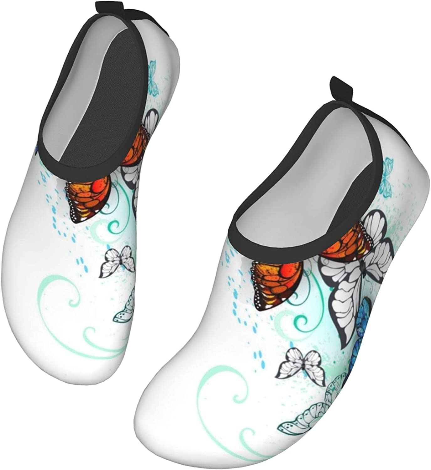Fasso Artistic Morpho and Monarchs Womens and Mens Water Shoes Barefoot Quick-Dry Aqua Socks Slip-On for Outdoor Beach Swim Yoga