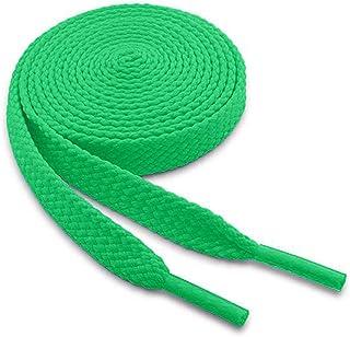WELKOO Lacets plats, lacets résistants 100% cotton, 1 paire. Plusieurs couleurs et longueurs disponibles (60-150cm x 8mm)....