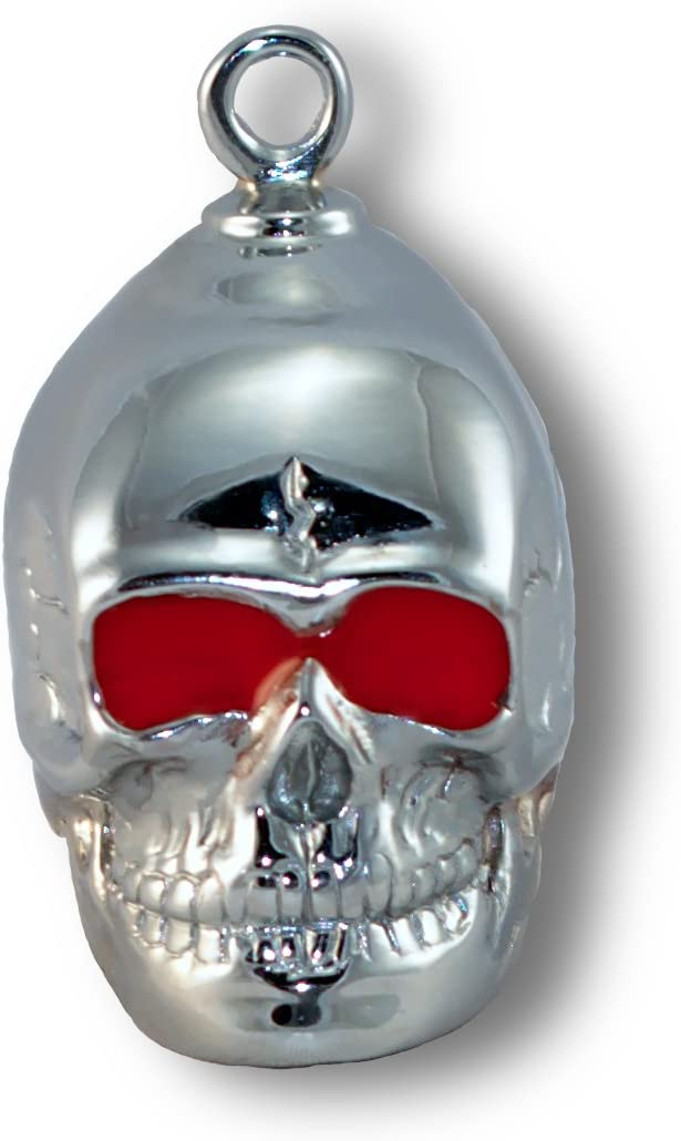 Au All stores are sold Cornerstone Inc. Sculpted Skull w Plat Resin Eyes Red Dallas Mall Chrome
