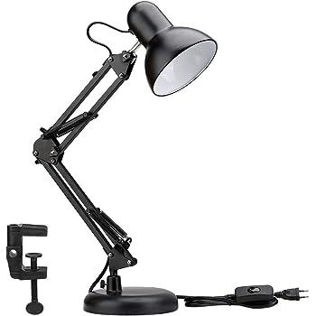 Schreibtischleuchten Nickel matte Tischlampe Leselampe Schirm schwenkbar E27