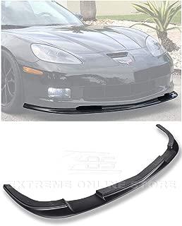 Extreme Online Store Replacement for 2005-2013 Chevrolet Corvette C6 Wide Body Models   ZR1 Style ABS Plastic Primer Black Front Bumper Lower Lip Splitter