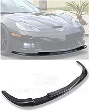 Extreme Online Store Replacement for 2005-2013 Chevrolet Corvette C6 Wide Body Models | ZR1 Style ABS Plastic Primer Black Front Bumper Lower Lip Splitter