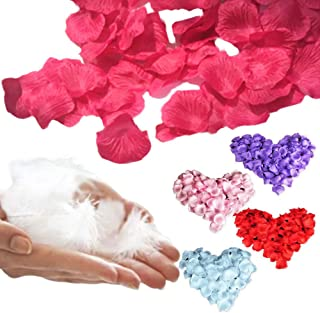 HiHi フラワシャワ― 1000枚 造花 花びら 飾り 装飾 薔薇 パーティー フェザーシャワー 羽 (100枚) セット (ピンク)