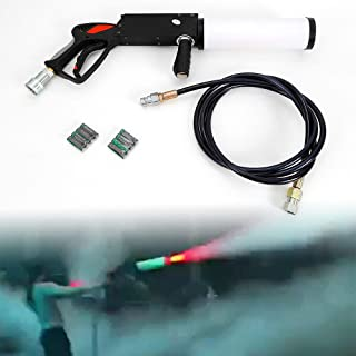 LED CO2 Cryo Cannon Special Effects Fog Machine Gun with 3M CO2 Gas Hose Stage Effect Night Club DJ Equipment