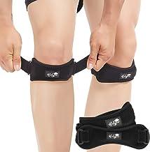 Bodyprox پاتلا تاندون زانو تسمه 2 بسته ، زانو درد برای حمایت از بریس پیاده روی ، فوتبال ، بسکتبال ، دویدن ، پرش زانو ، تنیس ، تاندونیت ، والیبال و اسکوات