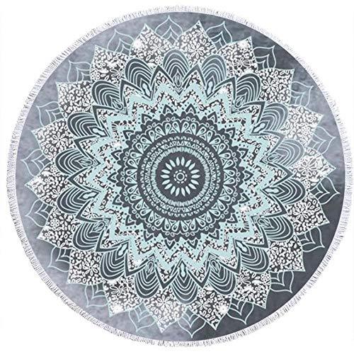 ZUICHU Ronde Stranddoek, Mandala Tapestry Hippie Boho Gypsy Tafelkleed, 150 Cm, Dik, Microvezel, Gamma Pad Sunblock Sjaal Wikkel Rok Fringe, Zacht, Sneldrogend