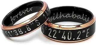latitude longitude wedding rings