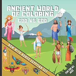 Ancient World of Coloring - God Vs God: Fun & Detailed Mythological Coloring Book for All Ages | Including Zeus, Poseidon,...