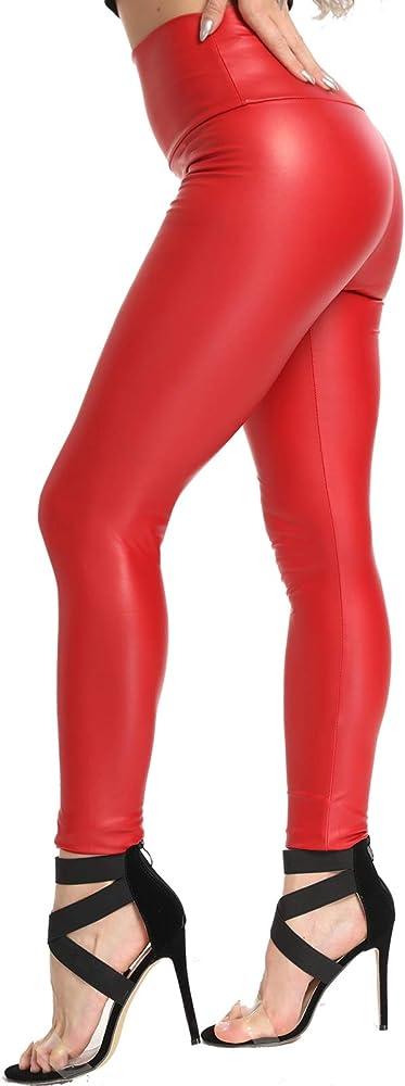 Fittoo leggings in ecopelle per donna,sexy slim vita alta,resistenti al freddo JK-HB-YHSGFR315