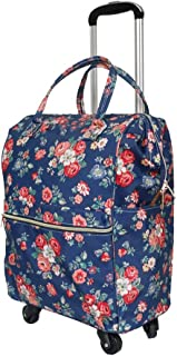 Cooralledtooere Out-of-the-box portable travel bag, comfortable hand-held ergonomic design, durable oxford fabric, shoulder strap hidden in the back layer, stylish universal wheel trolley bag, large c