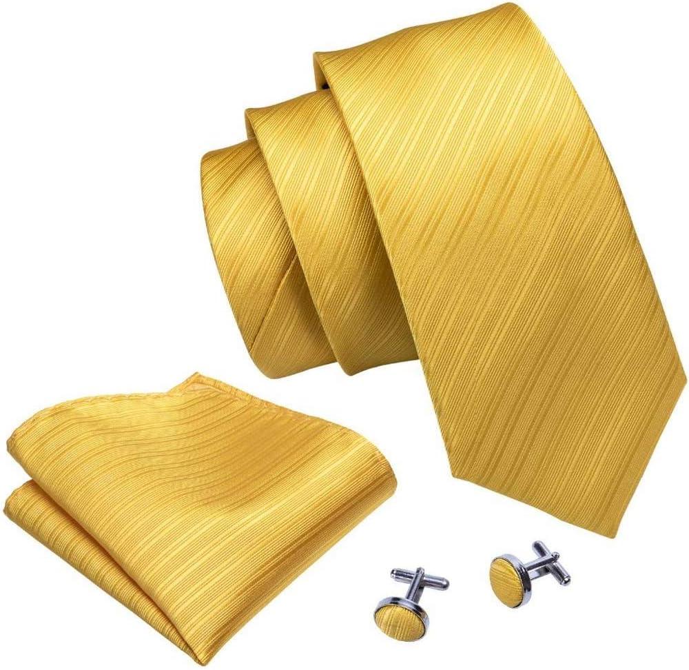 NSXKB Men's Tie with Hanky Cufflinks Bowtie 100% Silk Necktie Bow Ties for Men Wedding Party Business